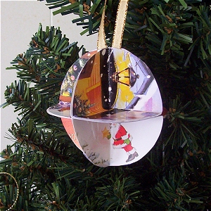 Recycled Christmas Card Ornament Craft